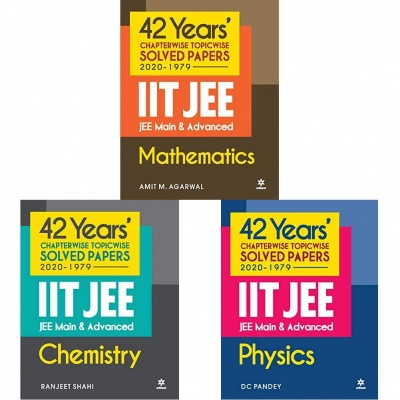 42 Years Chapterwise Topicwise Solved Papers (2020-1979) IIT JEE Main & Advanced Physics,Chemistry and Mathematics (Set of 3 Books) Product Bundle